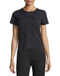 Camiseta con cuello circular negra de Marc Jacobs