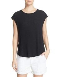 Camiseta con cuello circular negra de Rag & Bone
