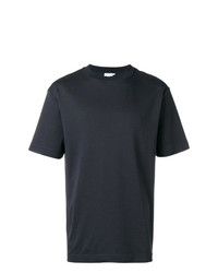 Camiseta con cuello circular negra de Sunspel