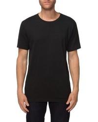 Camiseta con cuello circular negra de Tavik