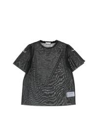 Camiseta con cuello circular negra de Versace Jeans