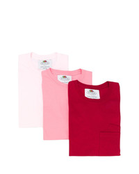 Camiseta con cuello circular roja de Cédric Charlier