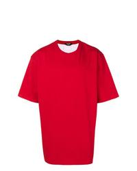 Camiseta con cuello circular roja de Calvin Klein 205W39nyc
