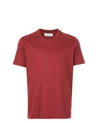 Camiseta con cuello circular roja de Cerruti 1881