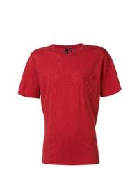 Camiseta con cuello circular roja de Joe's Jeans
