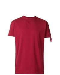 Camiseta con cuello circular roja de Kappa Kontroll