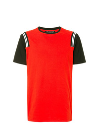 Camiseta con cuello circular roja de Neil Barrett