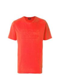 Camiseta con cuello circular roja de Ron Dorff