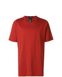 Camiseta con cuello circular roja de Stone Island Shadow Project
