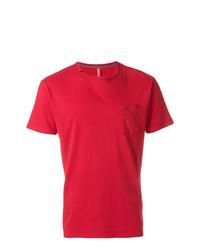 Camiseta con cuello circular roja de Sun 68
