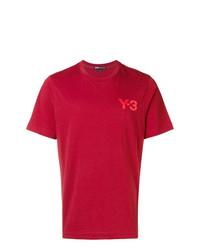 Camiseta con cuello circular roja de Y-3