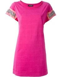 Camiseta con cuello circular rosa de Twin-Set