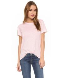 Camiseta con cuello circular rosada de Feel The Piece