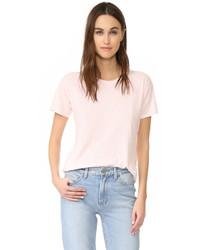 Camiseta con cuello circular rosada de Madewell