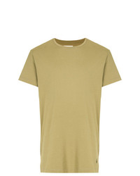 Camiseta con cuello circular verde oliva de Kent & Curwen