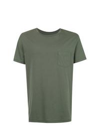 Camiseta con cuello circular verde oliva de OSKLEN