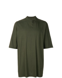 Camiseta con cuello circular verde oliva de Rick Owens DRKSHDW