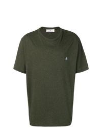 Camiseta con cuello circular verde oliva de Vivienne Westwood