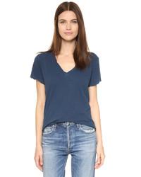 Camiseta con cuello en v azul marino de Current/Elliott