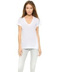 Camiseta con cuello en v blanca de LnA
