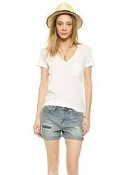 Camiseta con cuello en v blanca de Madewell