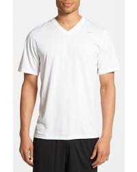 Camiseta con cuello en v blanca de Nike