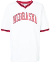 Camiseta con cuello en v blanca de Off-White