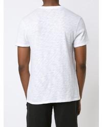 Camiseta con cuello en v blanca de ATM Anthony Thomas Melillo