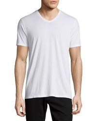 Camiseta con cuello en v blanca de Vince