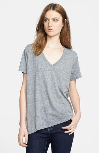 Camiseta con cuello en v gris de Current/Elliott