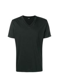Camiseta con cuello en v negra de Diesel