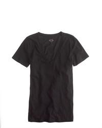 Camiseta con cuello en v negra de J.Crew