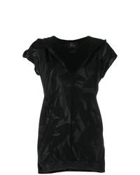 Camiseta con cuello en v negra de Lost & Found Ria Dunn