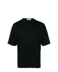 Camiseta con cuello en v negra de MACKINTOSH