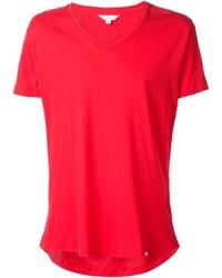 Camiseta con cuello en v roja de Orlebar Brown