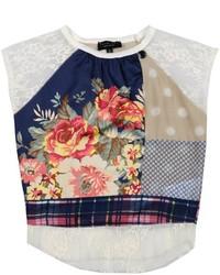 Camiseta con print de flores en multicolor