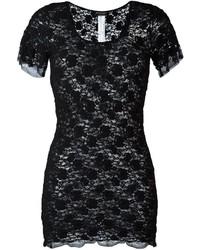 Camiseta de encaje negra de Twin-Set