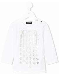 Camiseta de estrellas blanca de Diesel