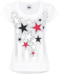 Camiseta de Estrellas Blanca de Twin-Set