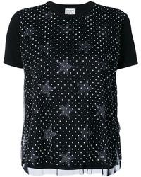 Camiseta de Estrellas Negra de Twin-Set
