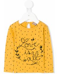 Camiseta de manga larga amarilla de Emile et Ida