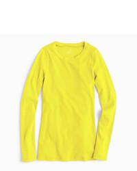 Camiseta de Manga Larga Amarillo Verdoso de J.Crew