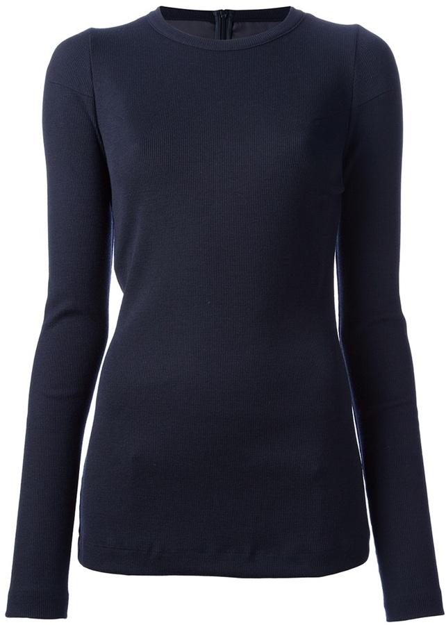 Camiseta de manga larga azul marino de Maison Margiela
