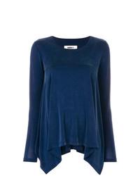 Camiseta de manga larga azul marino de MM6 MAISON MARGIELA