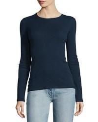 Camiseta de manga larga azul marino de The Row