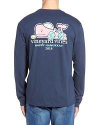 Camiseta de Manga Larga Azul Marino de Vineyard Vines