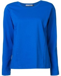 Camiseta de manga larga azul