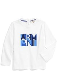 Camiseta de manga larga blanca de Armani Junior
