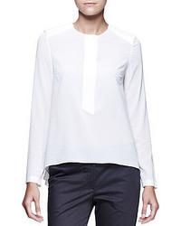 Camiseta de manga larga blanca de Brunello Cucinelli