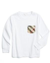 Camiseta de manga larga blanca de Burberry